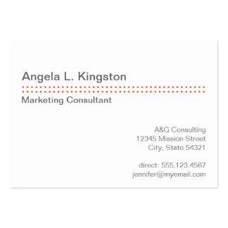 Oversize modern micro dot cherry red gray custom business cards