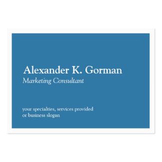 Oversize white border solid colbalt blue classic business card templates