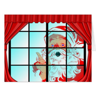 Oversized Christmas Santa Window Scene Card