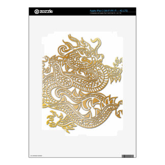 Oversized Faux Gold Chinese Dragon Skin 1 iPad 3 Skins