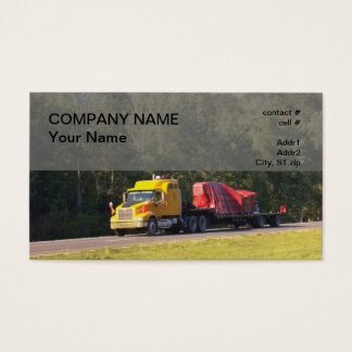 oversized semi flatbed truck business card