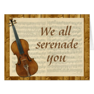 Oversized Serenade from Group, Violin and Music Card