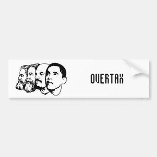 OVERTAX bumper sticker
