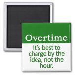 Overtime Refrigerator Magnet