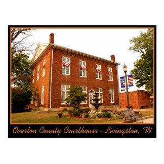 Overton County Courthouse - Livingston, TN Postcard
