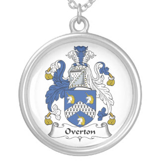 Overton Family Crest Silver Plated Necklace