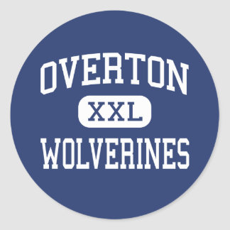 Overton - Wolverines - High - Memphis Tennessee Classic Round Sticker