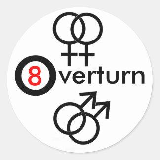 Overturn Prop 8 Classic Round Sticker
