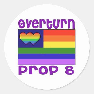Overturn Proposition 8 Classic Round Sticker