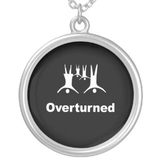 OVERTURNED -- ROUND PENDANT NECKLACE