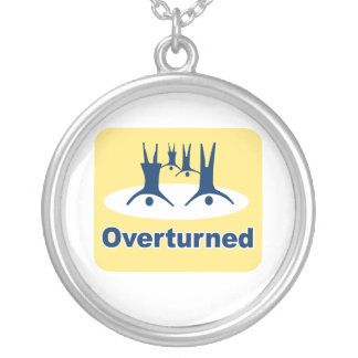 OVERTURNED PROP 8 SIGN ROUND PENDANT NECKLACE