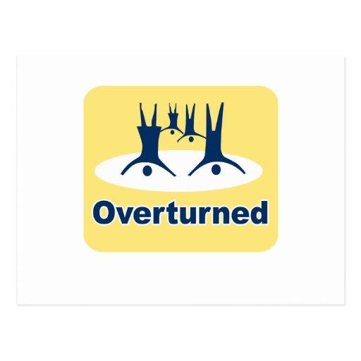 OVERTURNED PROP 8 SIGN POSTCARDS