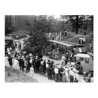Overturned Street Car, 1910s Postcard
