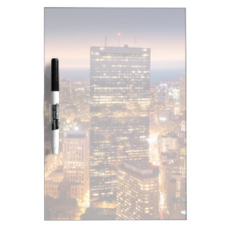 Overview of Boston at night Dry Erase Board