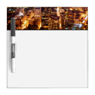 Overview of Boston at night Dry Erase Whiteboards