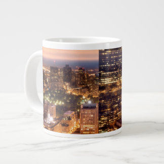 Overview of Boston at night Giant Coffee Mug