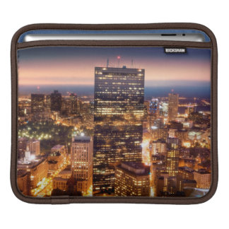 Overview of Boston at night iPad Sleeves