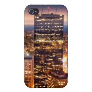 Overview of Boston at night iPhone 4/4S Covers