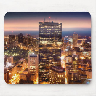 Overview of Boston at night Mouse Pad
