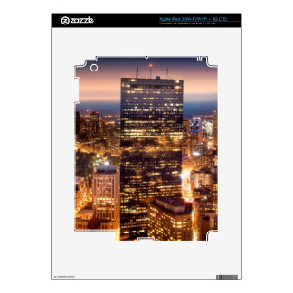 Overview of Boston at night Decal For iPad 3