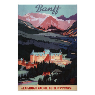 Overview of the Banff Springs Hotel Poster
