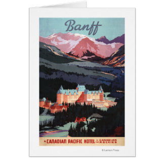 Overview of the Banff Springs Hotel Poster Card