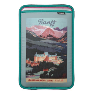 Overview of the Banff Springs Hotel Poster Sleeve For MacBook Air