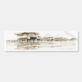 Overwater Bungalow Bumper Sticker