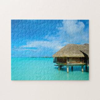 Overwater bungalow on Bora Bora jigsaw Jigsaw Puzzle
