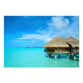 Overwater bungalow on Bora Bora Photo Print