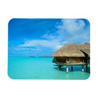 Overwater bungalow on Bora Bora rectangular magnet