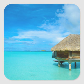 Overwater bungalow on Bora Bora sticker