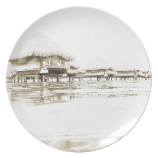 Overwater Bungalow Plate