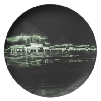 Overwater Bungalow Party Plates