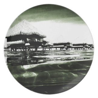 Overwater Bungalow Party Plate