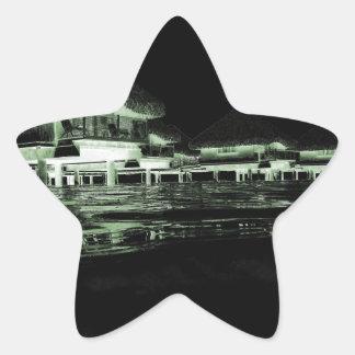 Overwater Bungalow Star Sticker
