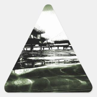 Overwater Bungalow Triangle Sticker