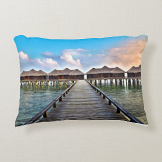 Overwater Bungalows Accent Pillow