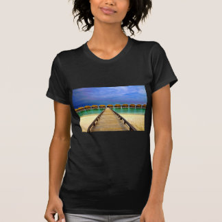 Overwater bungalows at Sheraton Maldives T-Shirt