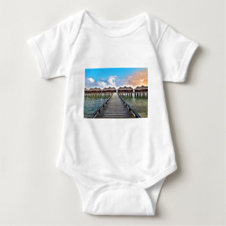 Overwater Bungalows Baby Bodysuit