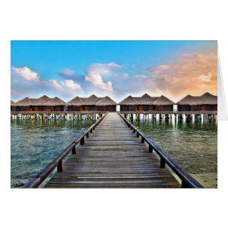 Overwater Bungalows Card