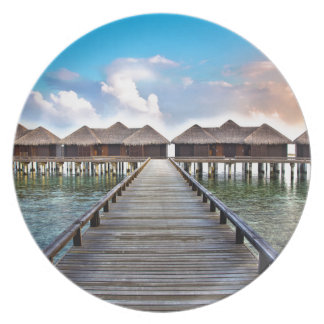 Overwater Bungalows Dinner Plate