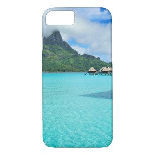 Overwater bungalows in Bora Bora lagoon iphone 7 iPhone 8/7 Case