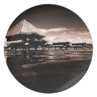 Overwater Bungalows Party Plate