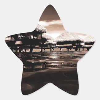 Overwater Bungalows Star Sticker