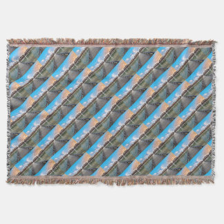 Overwater Bungalows Throw Blanket