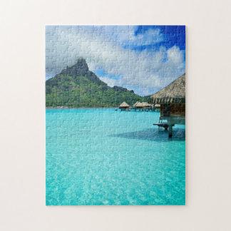 Overwater bungows in Bora Bora lagoon Puzzles