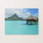 Overwater resort on Bora Bora Jigsaw Puzzles