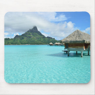 Overwater resort on Bora Bora mousepad