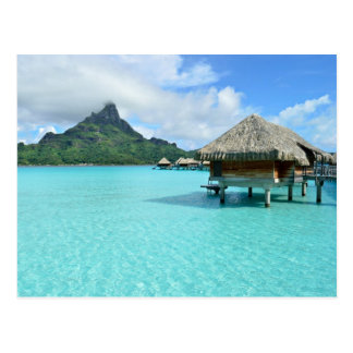 Overwater resort on Bora Bora Post Card